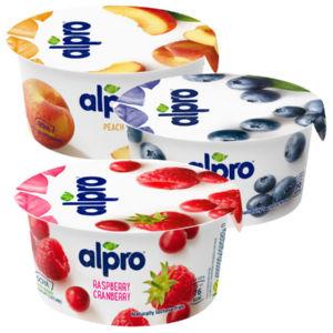 Alpro fermentiran sojin z breskvami, obogaten s kalcijem in vitamini, 150 g