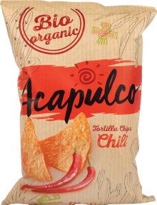 Čips tortilja Bio Acapulco, čili, 125g