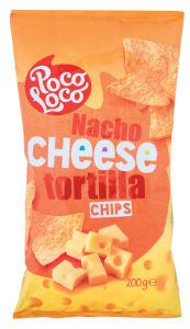 Tortilla chips Poco Loco, nacho cheese,200g