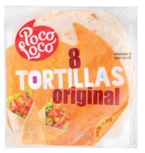 Tortilje Poco Loco, pšenične, 320g