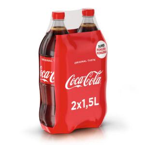 Coca cola, 2 x 1,5 l