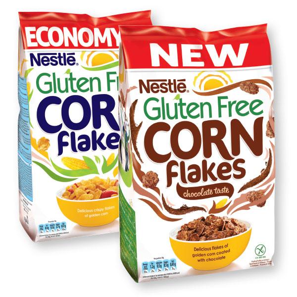 Žitarice Corn Flakes, čokolada, brez glutena, 450 g