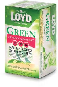 Čaj Loyd, zeleni z aloe vero, 20×1,7g
