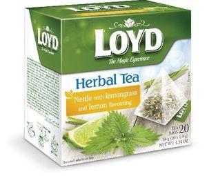 Čaj Loyd, kopriva, limonina trava, 38g