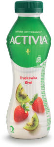 Napitek Activia jogutrov, jagoda, kivi, 300 g