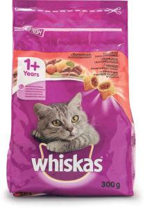 Briketi za mačke Whiskas, gov., korenček, 300g