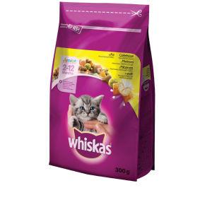 Briketi za mačke Whiskas, junior, piščanec, 300g