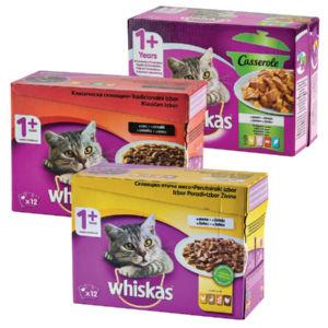 Hrana za mačke Whiskas, več okusov, gramatur