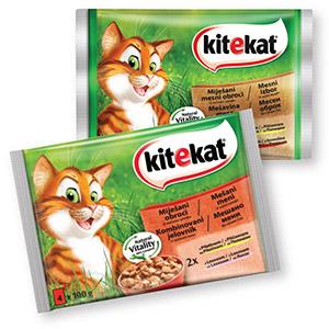 Hrana za mačke Kitekat, mesni izbor, 4x100g