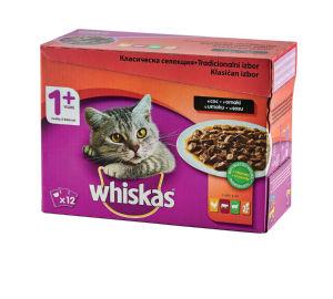 Hrana za mačke Whiskas, več okusov in gramatur*