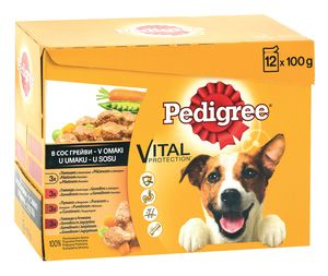 Pedigree Pouch, adult, 12x100g