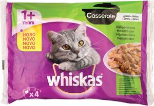 Hrana za mačke Whiskas Casserole, več vrst