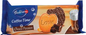 Keksi Coffee time, masleni srčki s čokolado, 143g
