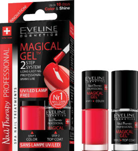 Lak Eveline, 2v1, magical gel, no.7