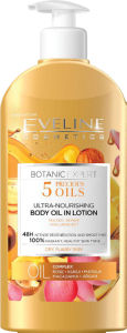 Balzam za telo Eveline, hranlj., Botanic expert s 5.olji, 350ml