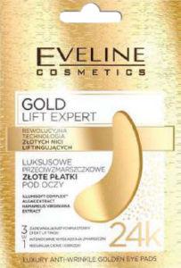 Blazinice za oči Eveline gold lift, anti whinkle, 2/1