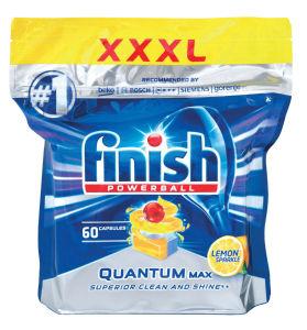 Tablete Finish, Quantum, lemon, 60/1