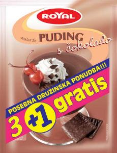 Puding Royal, čokolada, 3 + 1 grat., 4 x 50 g
