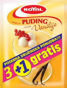 Puding Royal, vanilija, 3 + 1 gratis, 4 x 40 g