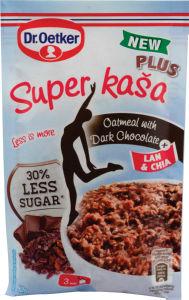 Kaša super temna čokolada, manj slad., 62g