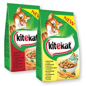 Briketi za mačke Kitekat, 1.8kg, več vrst
