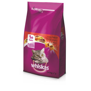 Whiskas, dry Adult, govedina, 1,4kg