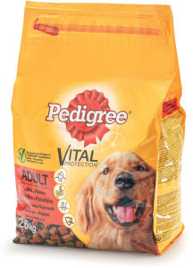 Pedigree, dry, adult, govedina, perut., 2,6kg