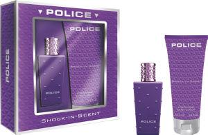 Darilni set Police, Shock w.compact, EDT 30ml+body lotion 100ml