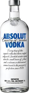 Vodka Absolut, alk.40 vol%, 1l