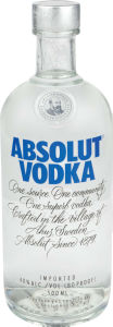 Vodka Absolut, alk.40 vol%, 0,5l