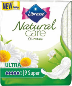 Higienski vložki Libresse, n.super clip, 9/1