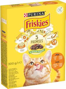 Briketi za mačke Friskies, pišč. jetra, zelenjava, 300g