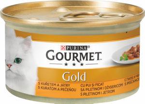 Hrana za mačke Gourmet, koščki piščanca, 85g