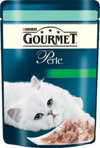 Hrana za mačke Gorumet, koščki postrvi, špinača, 85g
