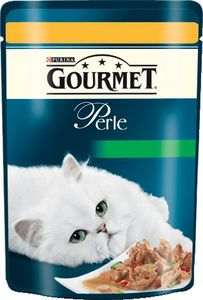 Hrana za mačke Gourmet, koščki pišč., zelenjava, 85g