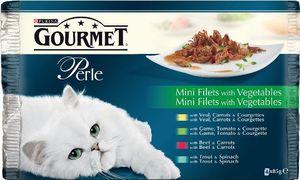 Hrana za mačke Gorumet, več vrst, 4x85g