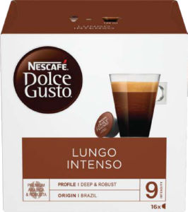 Kava Nescafe Dolce gusto, Lungo intenso, 144g