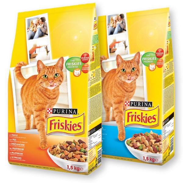 Briketi za mačke Friskies, piščanec, zelenjava, 1,5kg