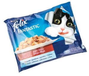 Hrana za mačke Felix, mešano meso, 4x100g