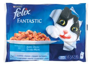 Hrana za mačke Felix, ribe, 4x100g