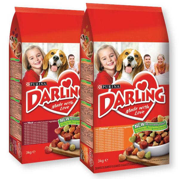 Briketi za pse Darling, 3 kg, več vrst*