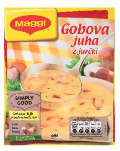 Juha Maggi gobova z jurčki, 70g