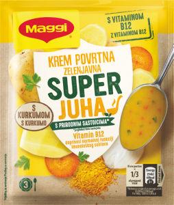 Juha Maggi, instant, zelenjavna s kurkumo, dodani vitamin B12, 55 g