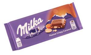 Čokolada mlečna Milka, Almond Crispy Creme, 90g