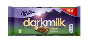 Čokolada mlečna Milka Dark, lešnik, 85 g