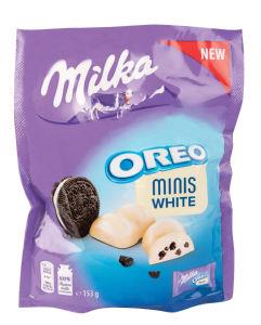 Čokolada mlečna Milka, Oreo minis white, 153g