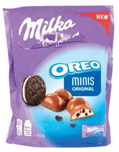 Čokolada mlečna Milka, Oreo minis original, 153g