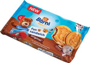 Biskvit Barni Fun, Sandwich Original, 180g