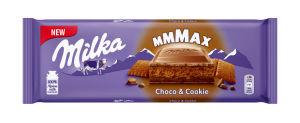 Čokolada mlečna Milka, Choco & Cookie, 300 g