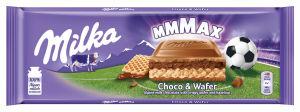 Čokolada mlečna Milka, Choco and Wafer, 300 g
